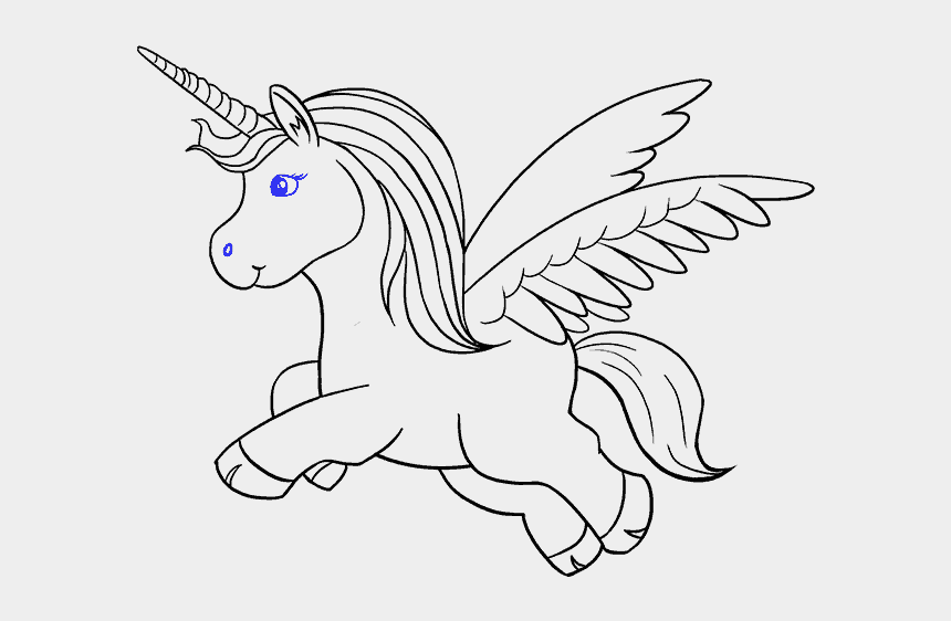 unicorn outline clipart, Cartoons - Unicorn Drawing Black And White