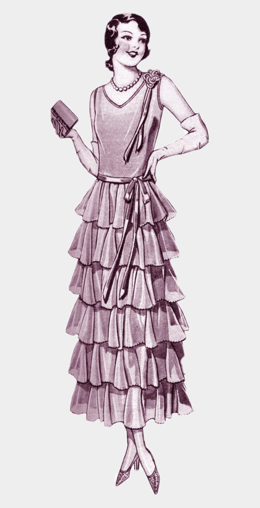 1920 s party clipart, Cartoons - Vintage Fashion Png