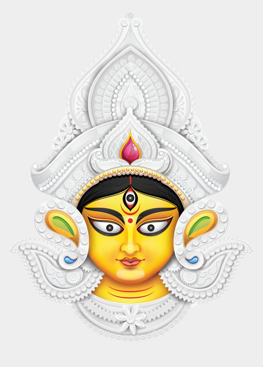 durga maa clipart png, Cartoons - Durga Puja Background