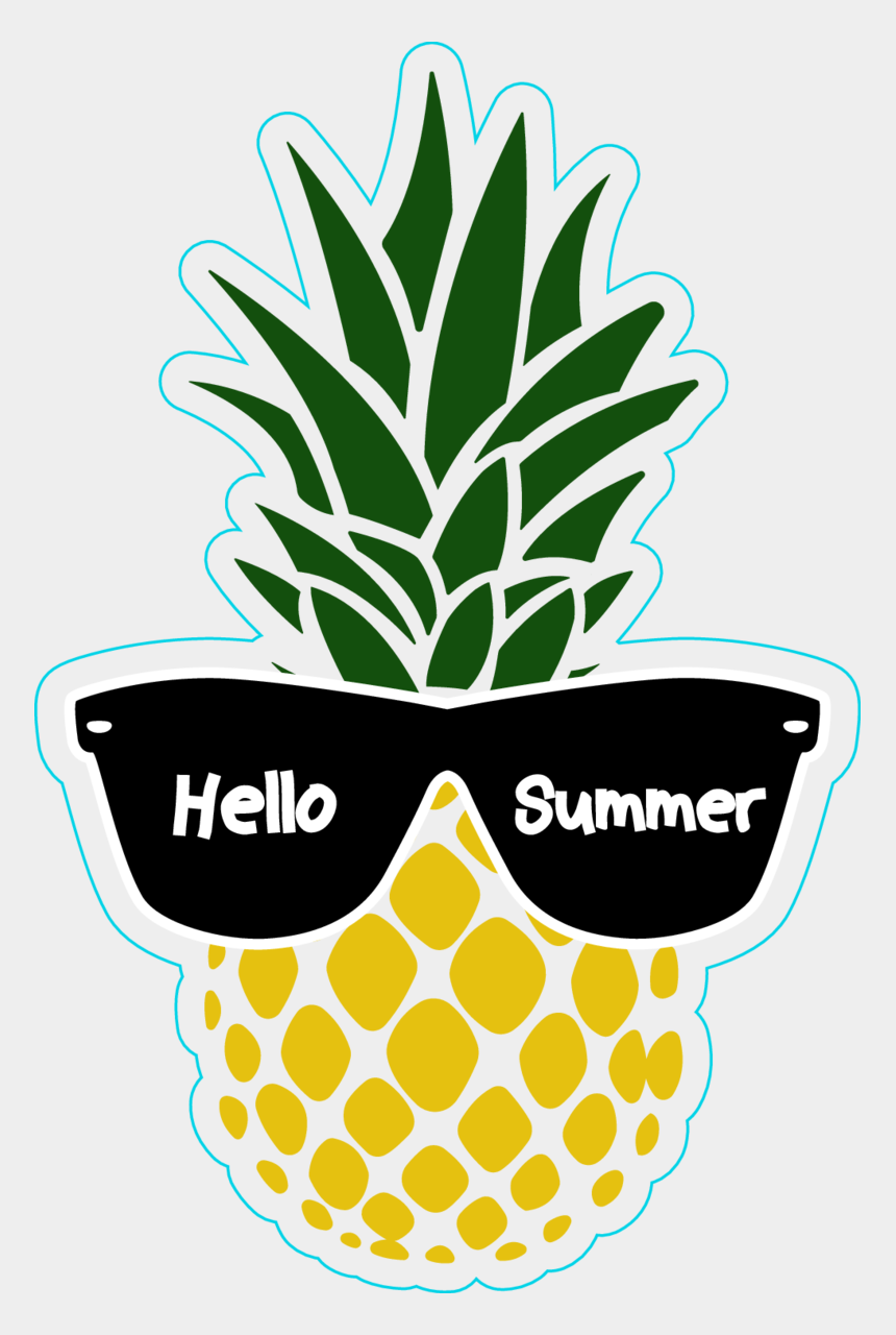 colorful pineapple clipart, Cartoons - Hello Summer Pineapple