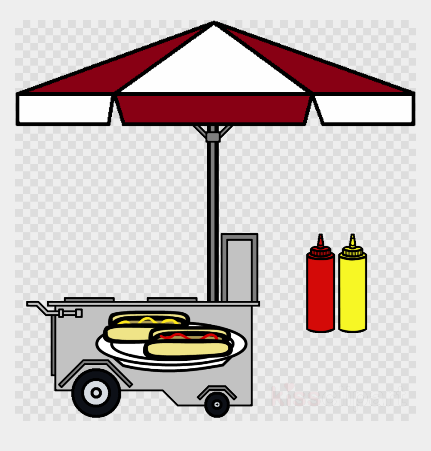 food stand clipart, Cartoons - Hot Dog Stand Transparent