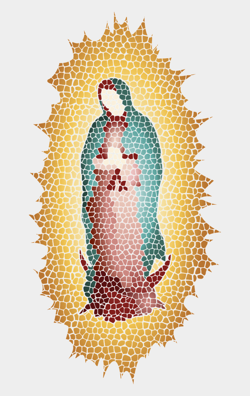 our lady of guadalupe clip art, Cartoons - Our Lady Of Guadalupe Silhouette