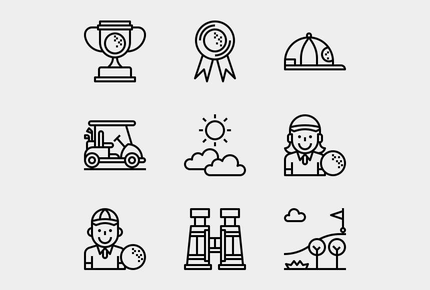 golfers clip art, Cartoons - Web Design Line Icon