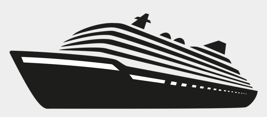 cruise ship clip art black and white, Cartoons - Silhouette Cruise Ship Vectors