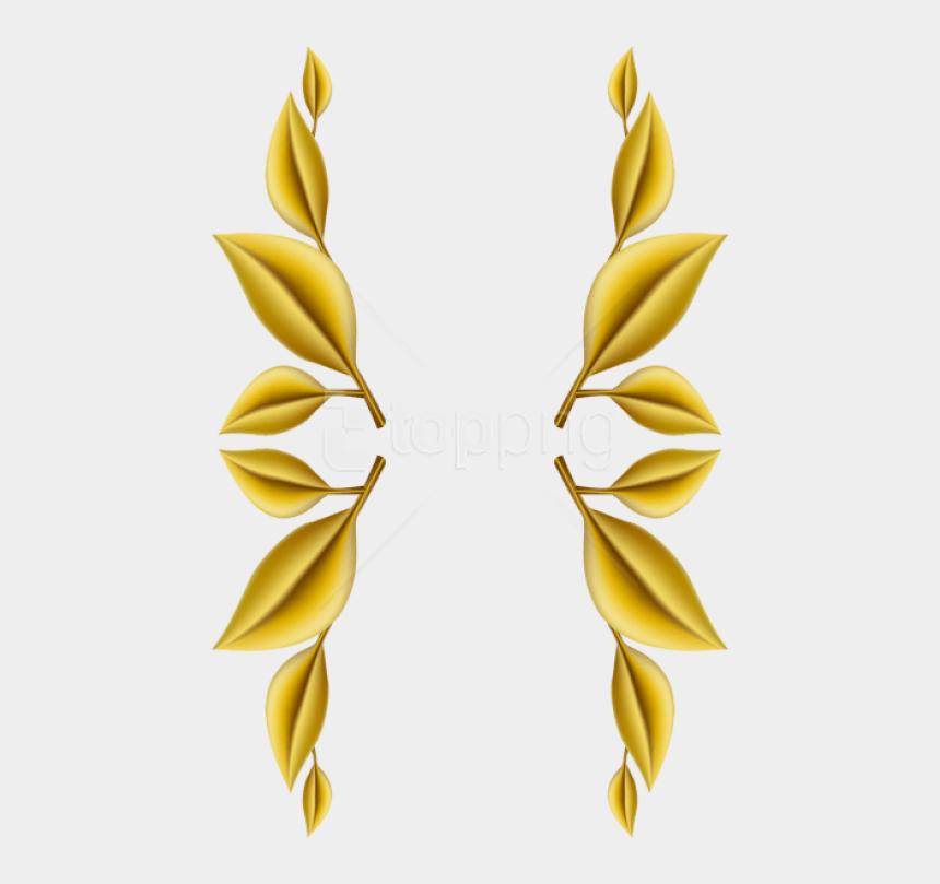 decoration clipart png, Cartoons - Gold Leaf Border Transparent