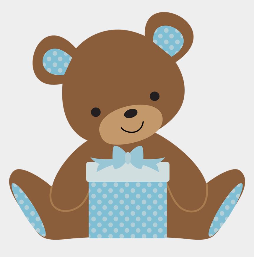 girl teddy bear clip art, Cartoons - Bear Cartoon Baby Shower Png