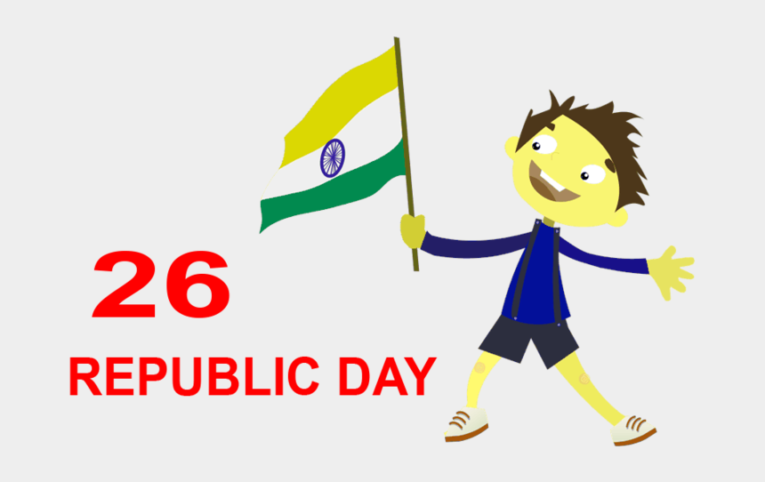 kids with indian flag clipart, Cartoons - Independence Day Clipart India