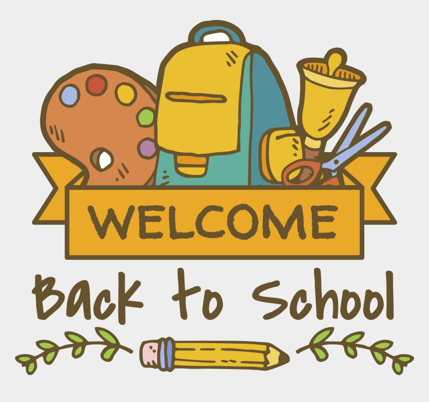 welcome back clip art free, Cartoons - Back To School Icon Png