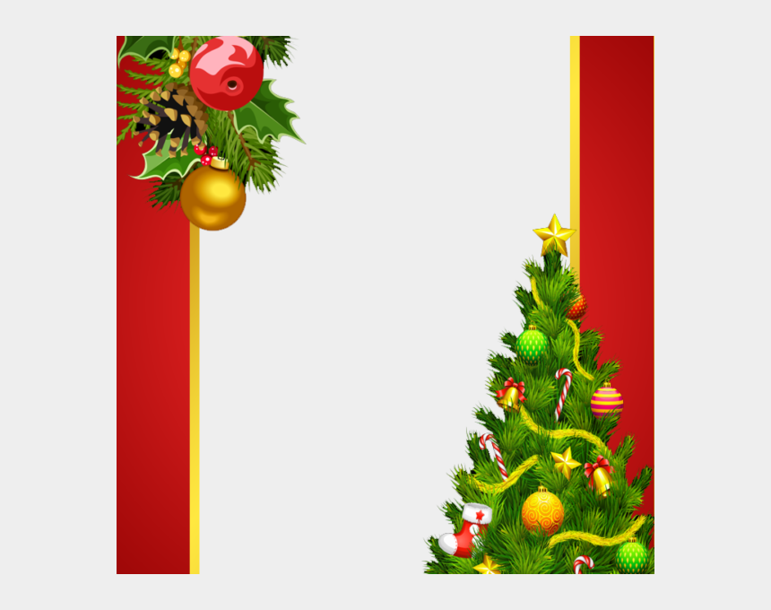 red truck with christmas tree clipart, Cartoons - Christmas Decorations Png Transparent