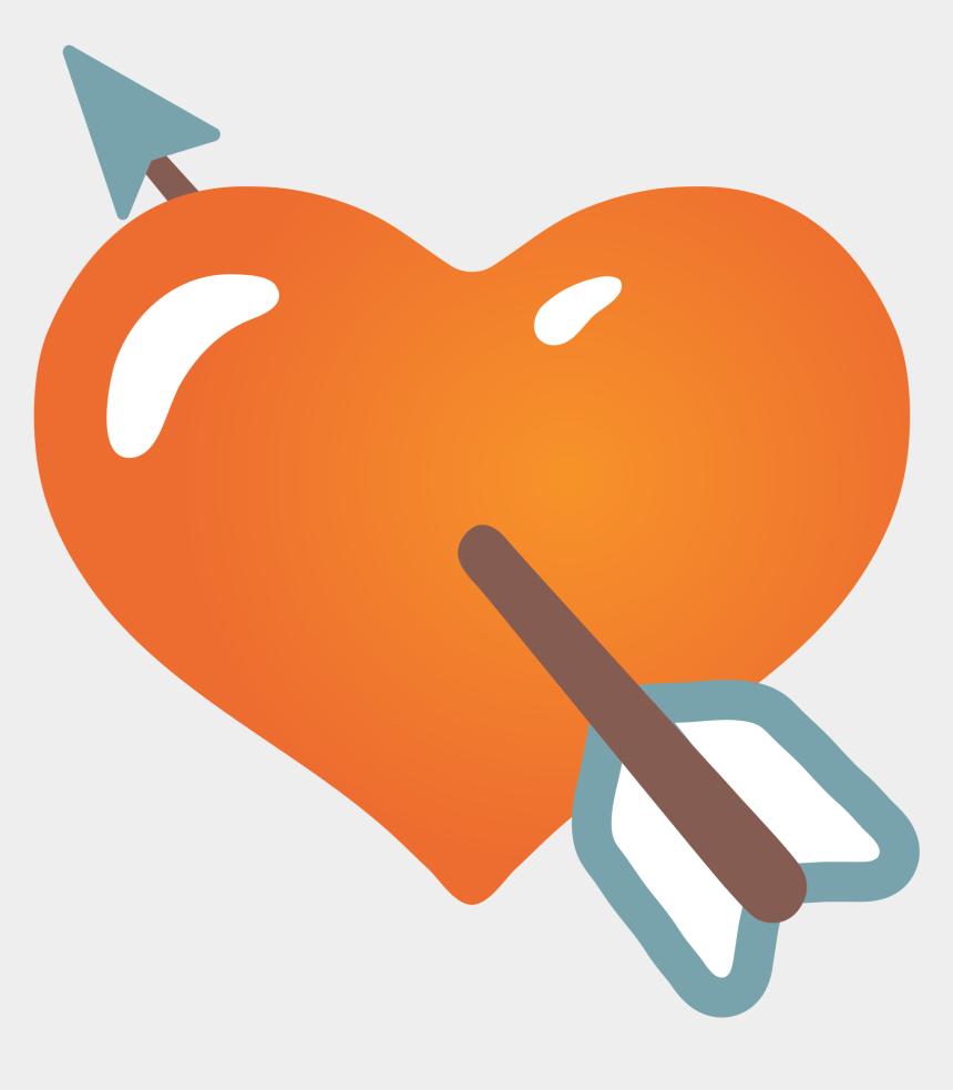 heart arrow clip art, Cartoons - Emoji Cuore Con Freccia