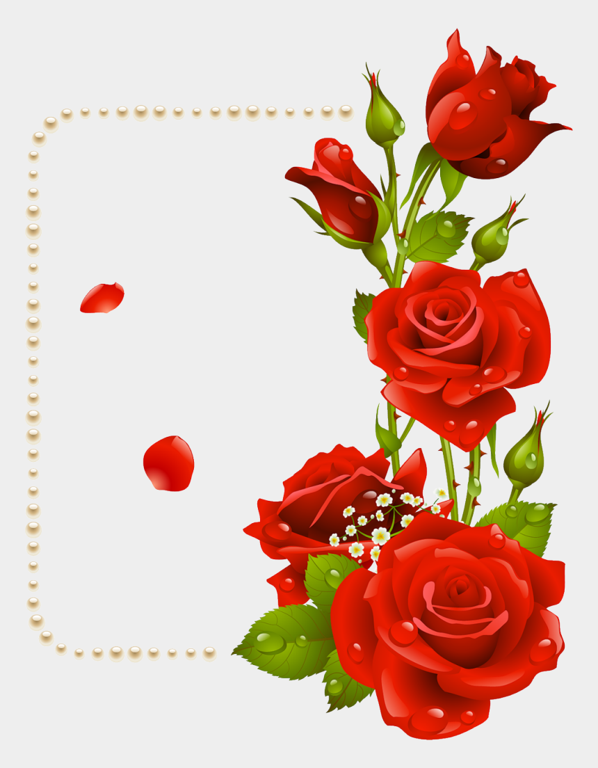 clip art borders flowers rose, Cartoons - Transparent Background Roses Png