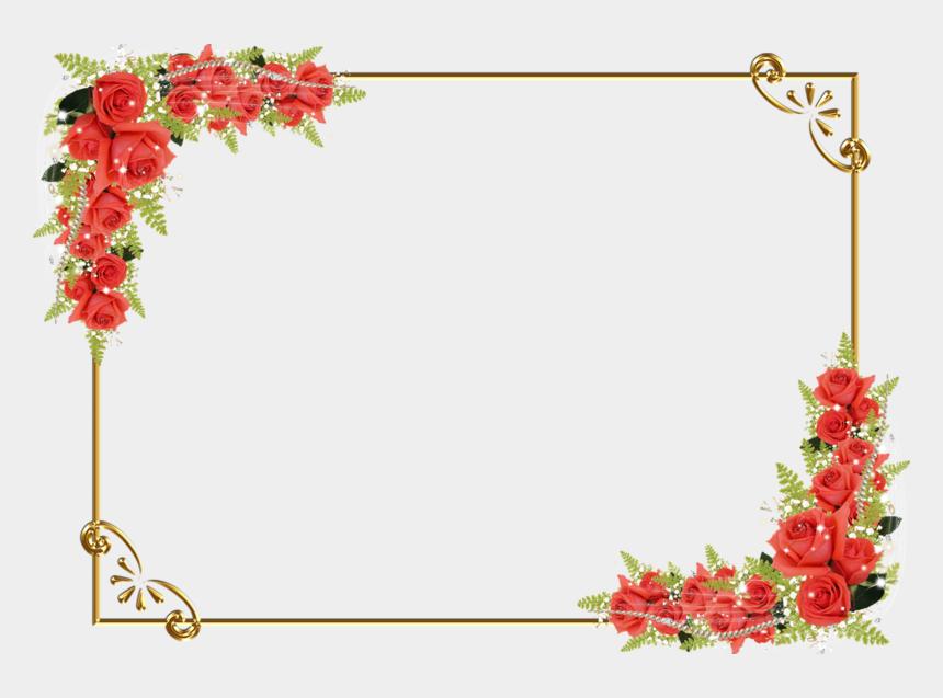 clip art borders flowers rose, Cartoons - Flower Frame Border Png