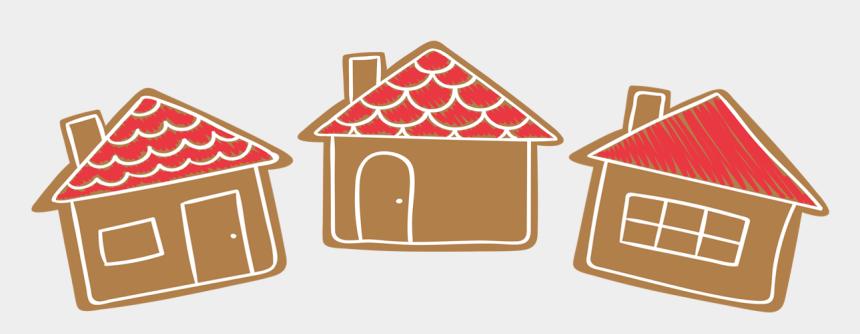 gingerbread house clip art, Cartoons - House