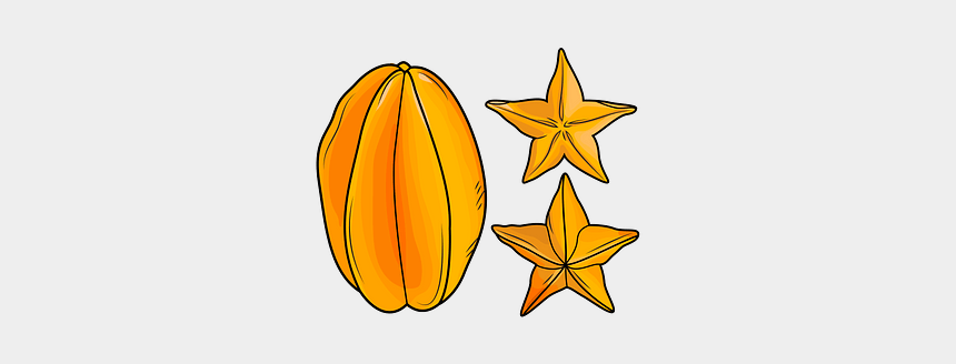 fruit clipart pictures, Cartoons - Star Fruit Vector