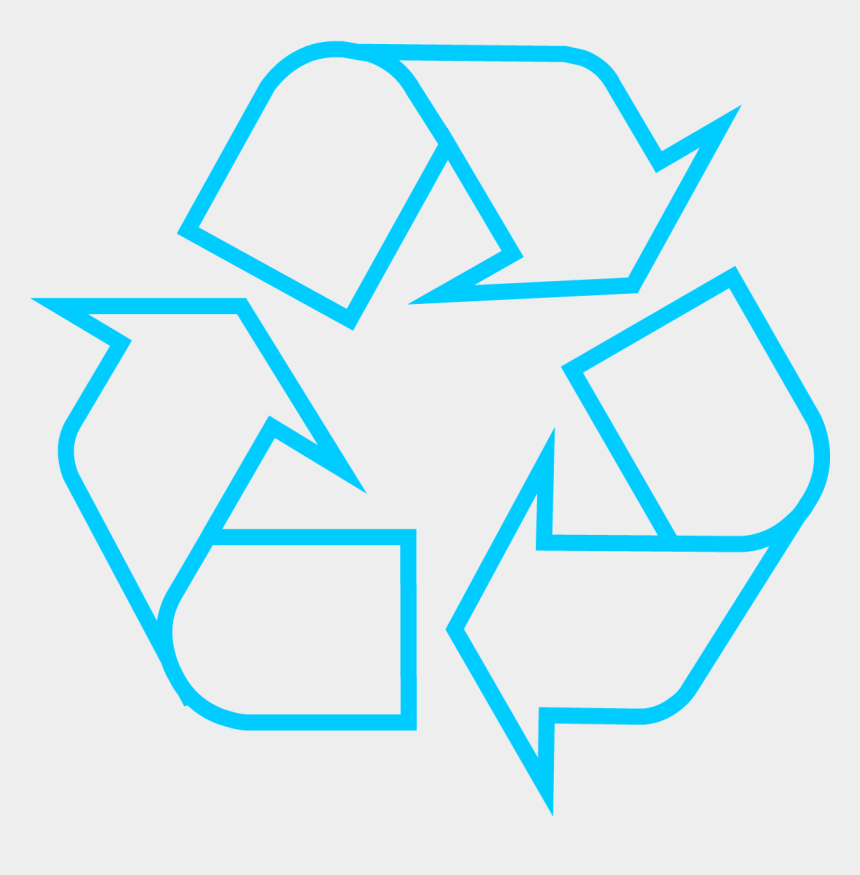 blue circle outline clipart, Cartoons - Recycle Bin Logo Outline