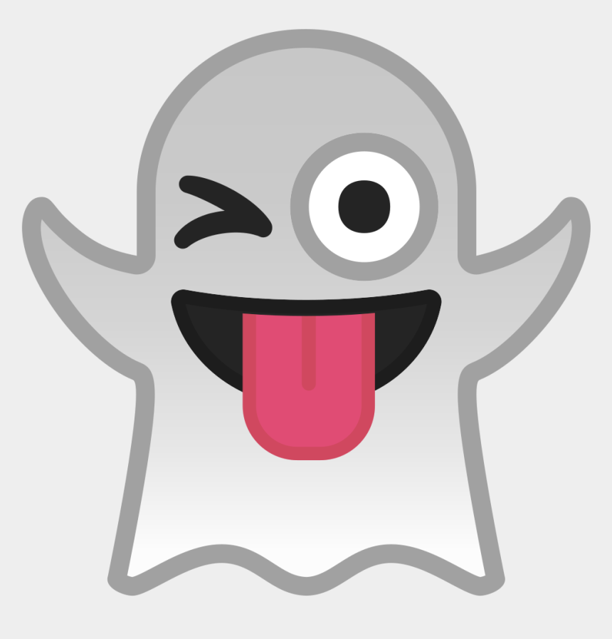 ghost smiley face clipart, Cartoons - Winking Tongue Emoji Android