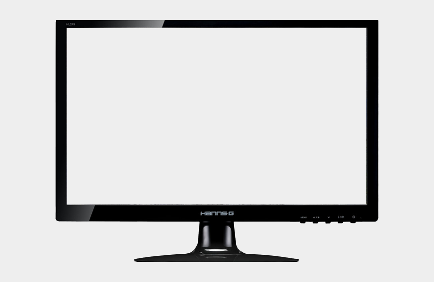 computer monitor old clipart, Cartoons - Flat Screen Tv Icon Png