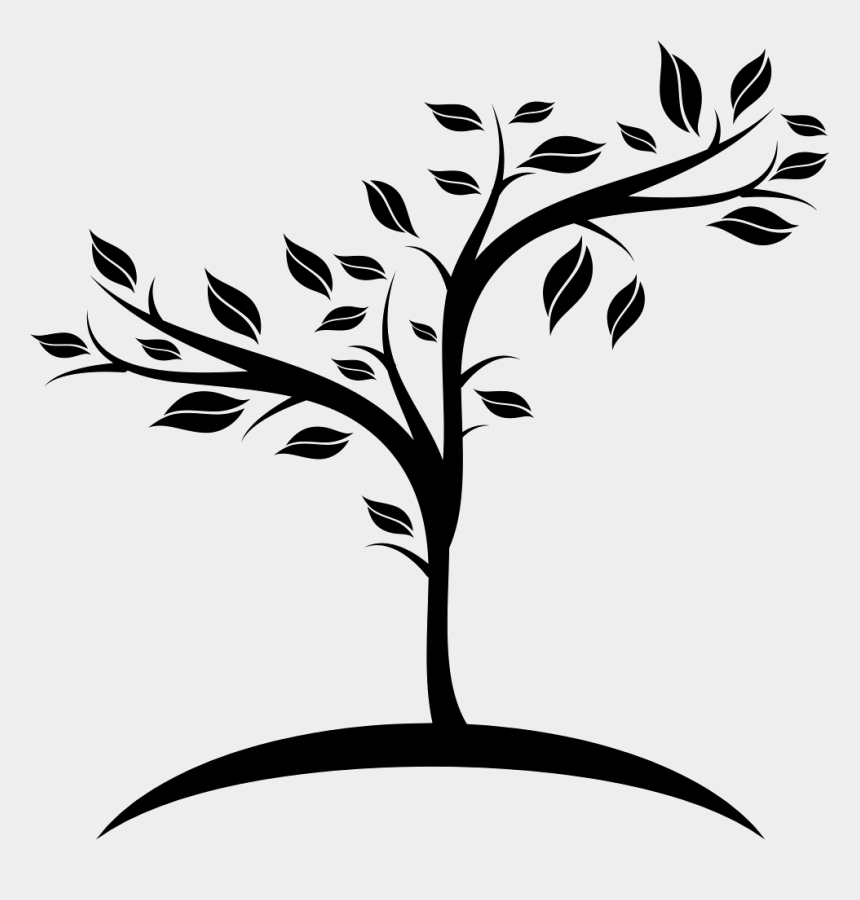 growing brain clipart, Cartoons - Growing Tree Black And White