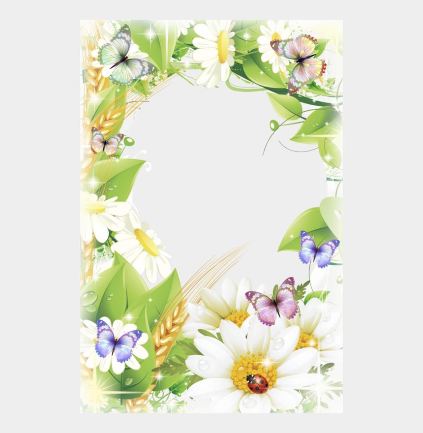 crystals border clipart, Cartoons - Floral Vector Background