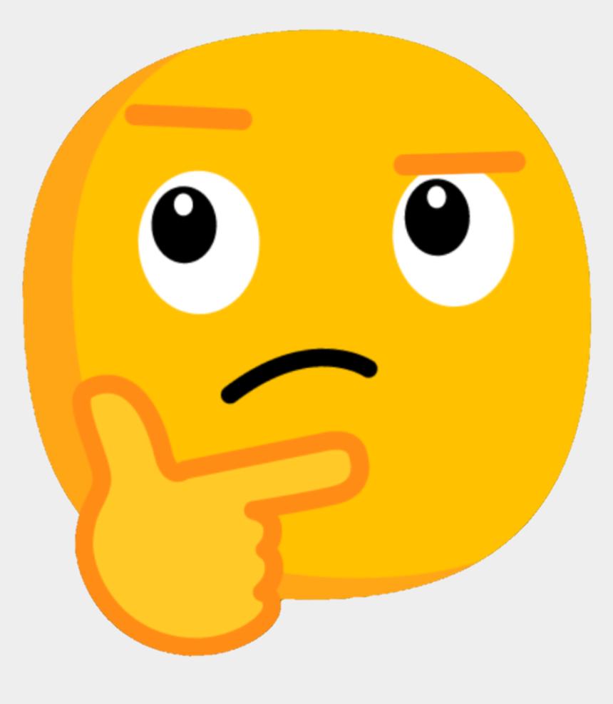 thinking smiley face clipart, Cartoons - Cartoon Thinking Emoji Png