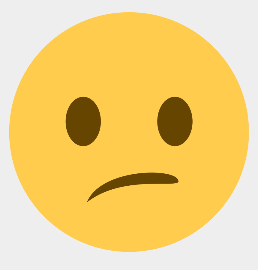 thinking smiley face clipart, Cartoons - Discord Neutral Face Emoji