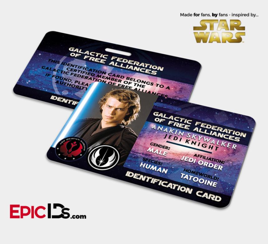 blank identification card clipart, Cartoons - Star Wars Id Card Template