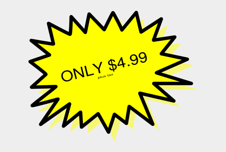star price tag clipart, Cartoons - Yellow Explosion Clipart