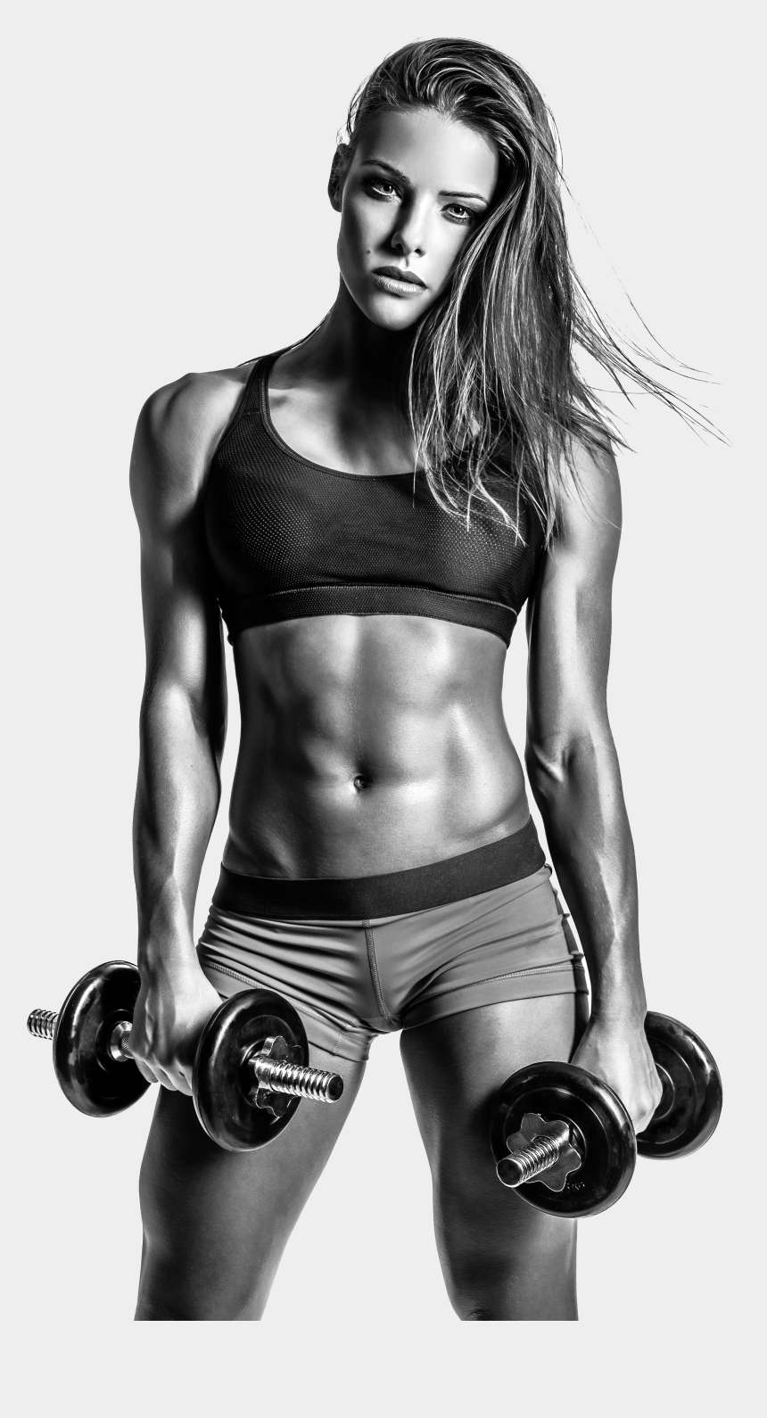 female bodybuilding clipart, Cartoons - Fitness Png