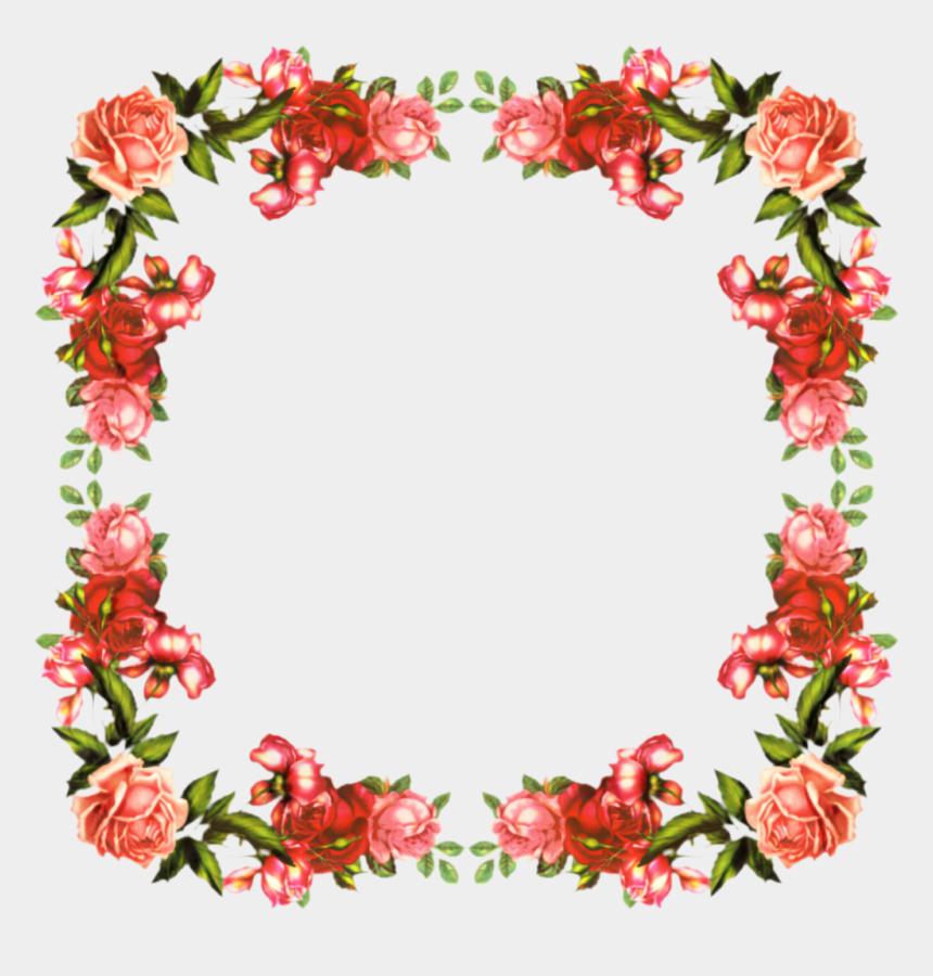poinsettia clipart border free, Cartoons - Vintage Flower Corner Png