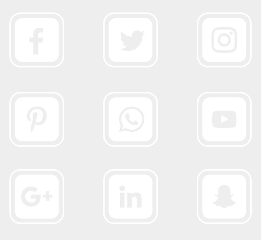clipart social media icons free, Cartoons - Transparent Background Social Media Icons Vector
