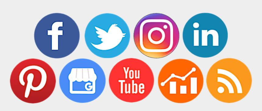 clipart social media icons free, Cartoons - Social Media Platform Logos