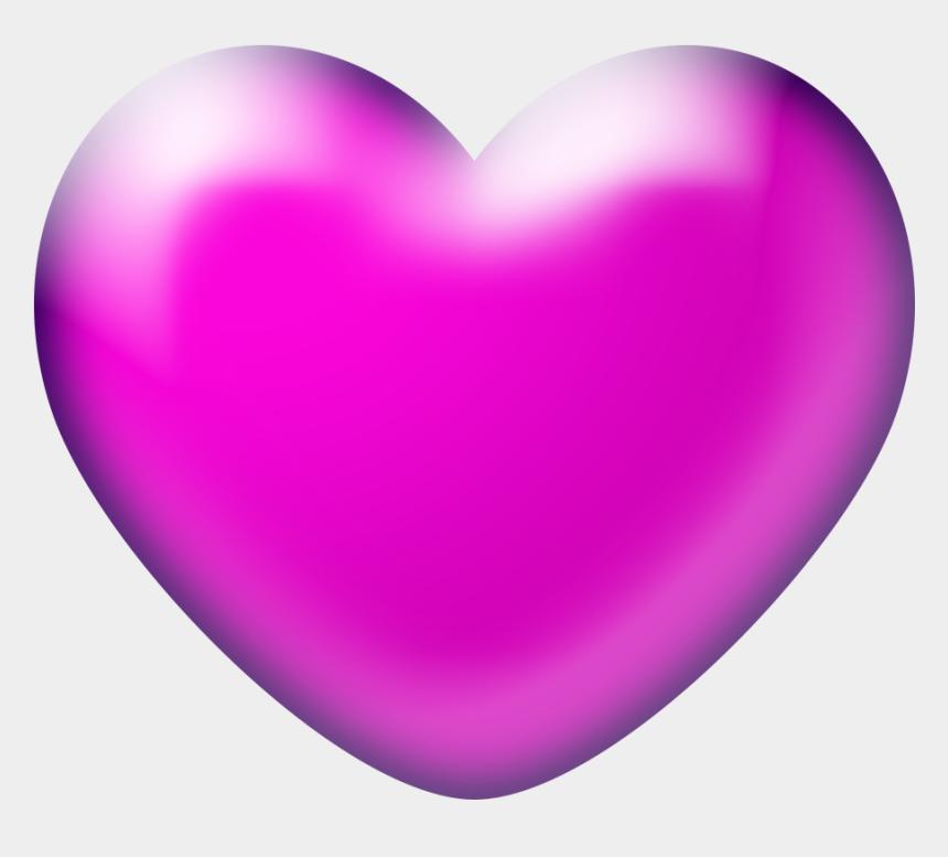 pink butterfly banner clipart, Cartoons - Transparent Background 3d Heart Png