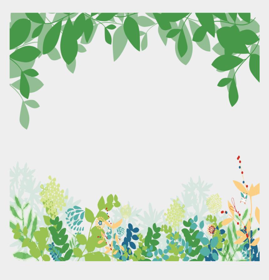 clipart green leaves border, Cartoons - Green Leaf Border Png