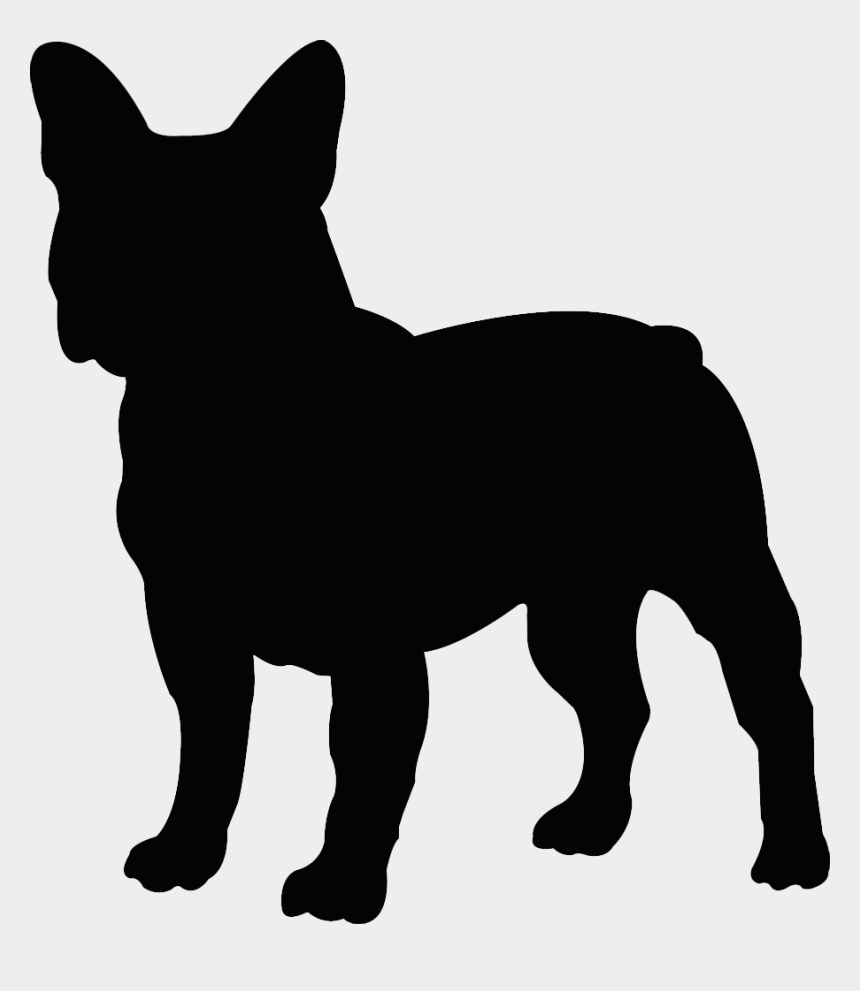 clipart french bulldog puppy, Cartoons - French Bulldog Silhouette