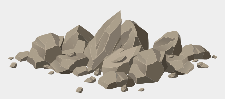 boulder clipart free, Cartoons - Stone Is Broken By The Last Stroke