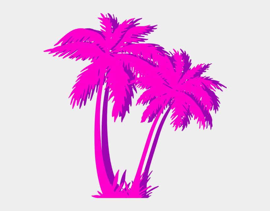 neon palm tree clip art, Cartoons - Vaporwave Palm Tree Png