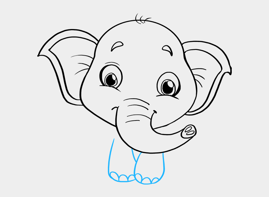 baby dumbo clip art, Cartoons - Baby Elephant Drawing Easy Step By Step