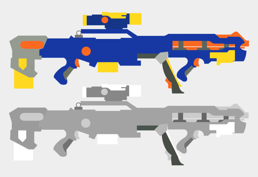 nerf guns clipart, Cartoons - Transparent Nerf Gun Vector
