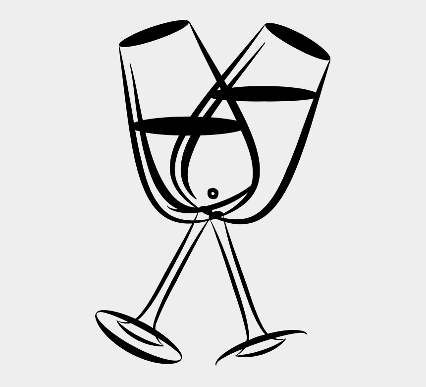 champagne glass clipart, Cartoons - Clipart Wedding Champagne Glass - Wine Glasses Clipart Outline