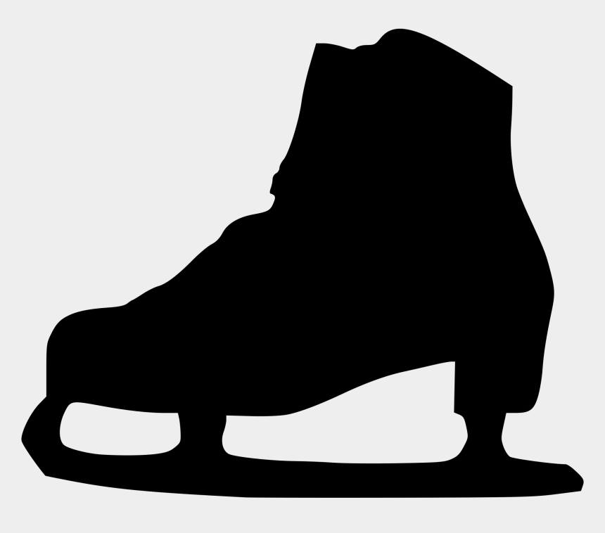 ice skating clipart, Cartoons - Ice Skating Clipart - Ice Skates Silhouette Png