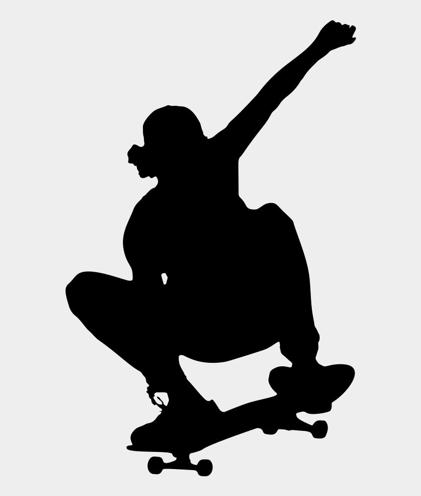 ice skating clipart, Cartoons - Skate Clipart Cool Person - Skateboarder Skateboard Clip Art
