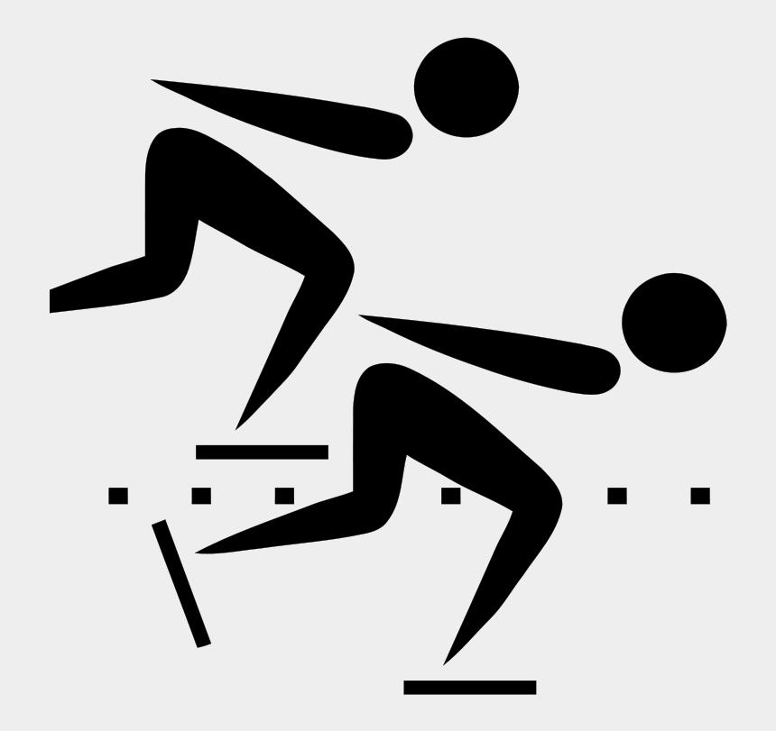 ice skating clipart, Cartoons - Speed Skating Pictogram - Speed Skating Olympic Symbol