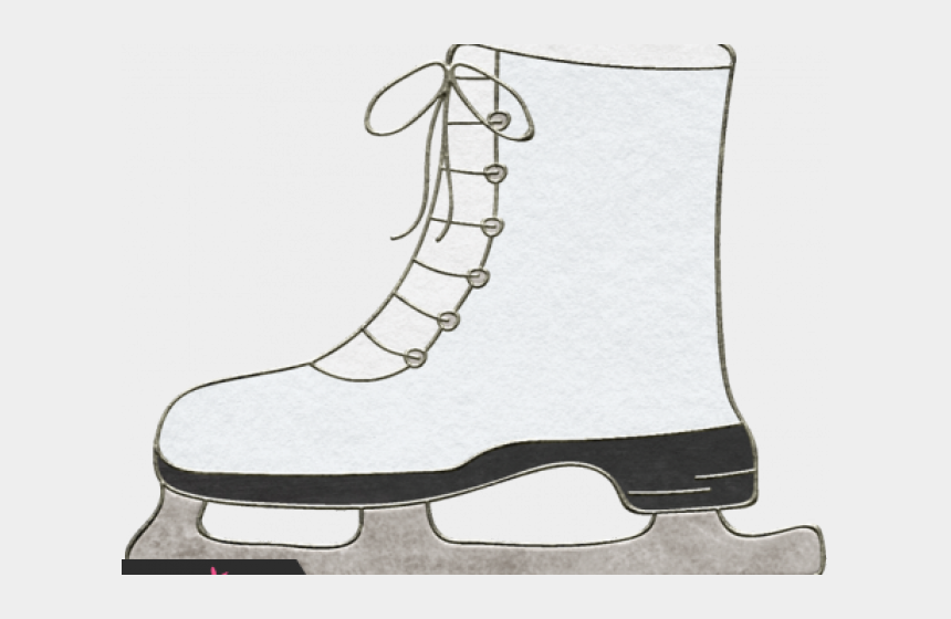 ice skating clipart, Cartoons - Drawn Ice Shoe - Work Boots