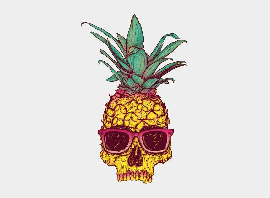 pineapple clipart, Cartoons - Skull Calavera Creative Tropical Fruit Pineapple Drawing - Pineapple Skull