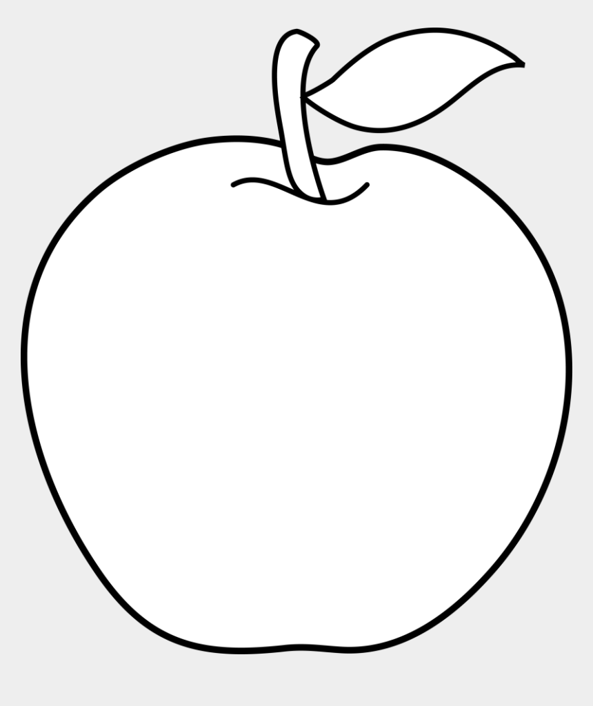fruits clipart black and white, Cartoons - Clipart Of Fruit, Regard And Fruit On - Apple Outline Png