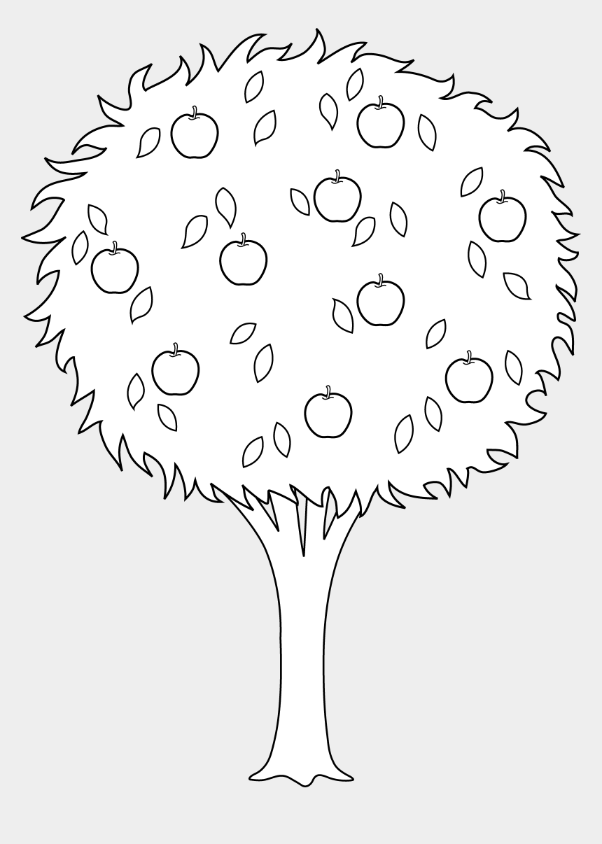 fruits clipart black and white, Cartoons - Fruit Clipart Worksheet - Drawings Of Orange Trees