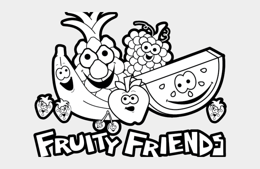 fruits clipart black and white, Cartoons - Fruit Clip Art Black And White