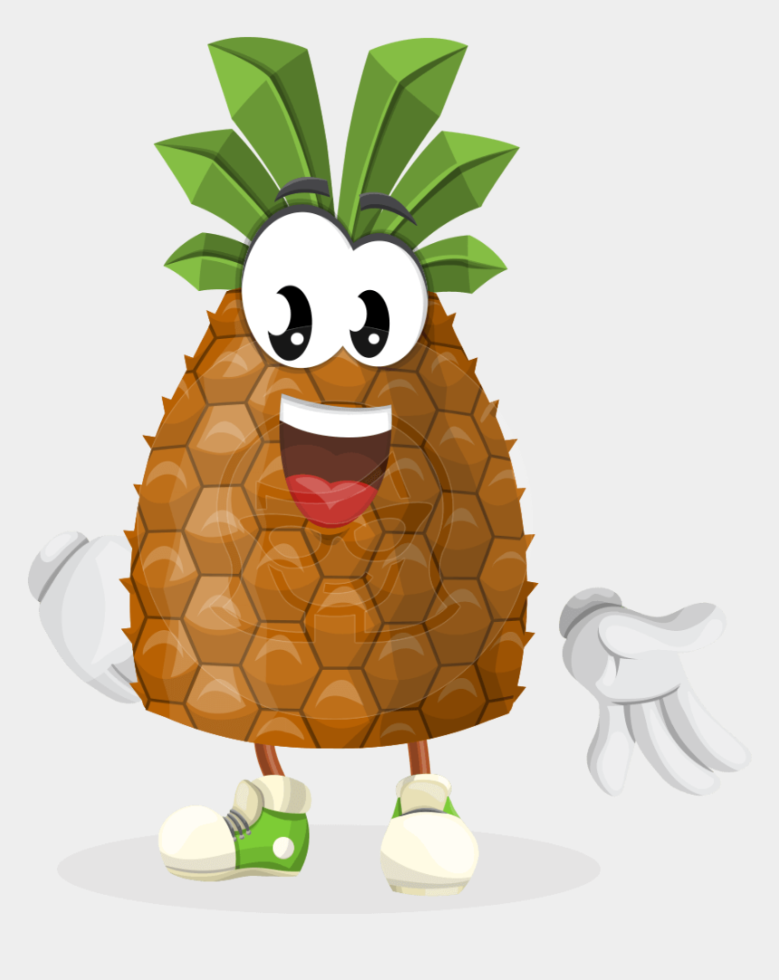 pineapple clipart, Cartoons - Pineapple Clipart Character - Pineapple