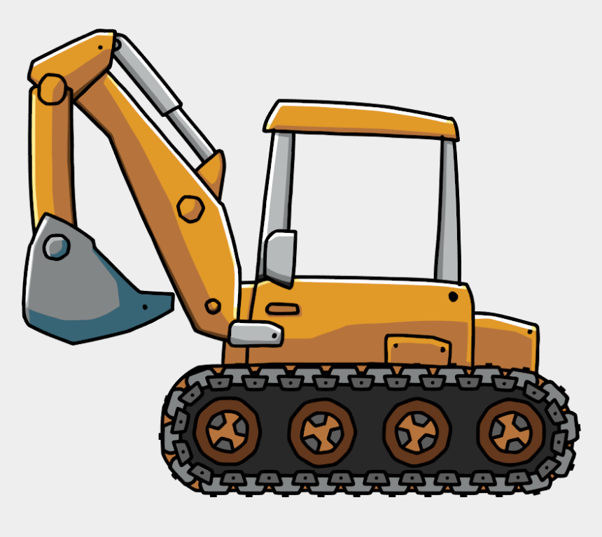 tractor clipart, Cartoons - Backhoe Tractor Clipart 4 By Johnny - Backhoe Png
