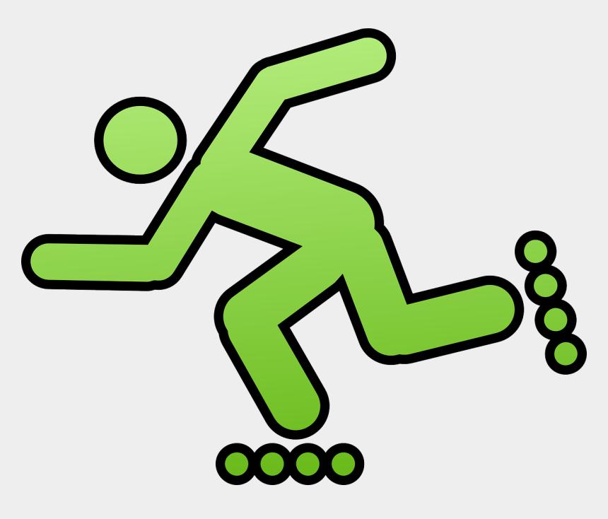 skating clipart, Cartoons - Inline Skating Skating Rollerblades Skater Sports - Roller Blade Clip Art